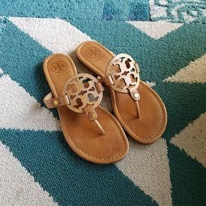 {Tory Burch} Sand Pebbled Miller Sandals